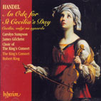 AN ODE FOR ST CECILIA`S DAY/ CAROLYN SAMPSON