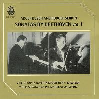 SONATAS BY BEETHOVEN VOL.1: VIOLIN SONATA/ RUDOLF ESRKIN [베토벤: 바이올린 소나타 1집 - 아돌프 부쉬, 루돌프 제르킨]