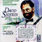 CHAMBER MUSIC OF CARL MARIA VON WEBER FOR CLARINET/ DAVID SHIFRIN