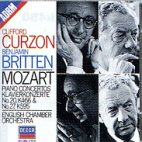 PIANO CONCERTOS NOS.20 & 27/ CLIFFORD CURZON, BENJAMIN BRITTEN [모차르트: 피아노 협주곡 20, 27번 - 커즌, 브리튼]