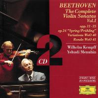 VIOLIN SONATAS VOL.1/ WILHELM KEMPFF, YEHUDI MENUHIN [베토벤: 바이올린 소나타 1집 - 메뉴힌, 켐프]