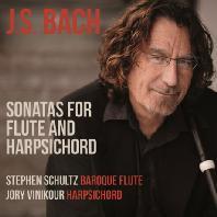 SONATAS FOR FLUTE AND HARPSICHORD/ STEPHEN SCHULTZ, JORY VINIKOUR [바흐: 플룻과 하프시코드를 위한 소나타 - 조리 비니커, 슈테판 슐츠]