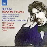 WORKS FOR 2 PIANOS/ ALDO CICCOLINI, ALDO ORVIETO, MARCO RAPETTI [부조니: 두 대의 피아노를 위한 작품 - 치콜리니, 오르비에토, 라페티]