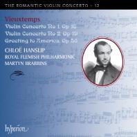 VIOLIN CONCERTOS 1 & 2/ CHLOE HANSLIP, MARTYN BRABBINS [THE ROMANTIC VIOLIN CONCERTO 12]