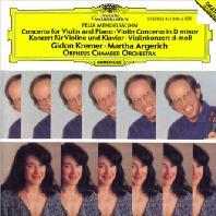 VIOLIN & PIANO CONCERTO/ GIDON KREMER, MARTHA ARGERICH [멘델스존: 바이올린 & 피아노 협주곡]