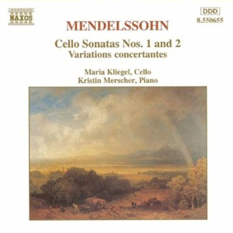 CELLO SONATAS NOS.1,2 & VARIATIONS CONCERTANTES/ MARIA KLIEGEL, KRISTIN MERSCHER