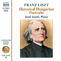 COMPLETE PIANO MUSIC 54: HISTORICAL HUNGARIAN PORTRAITS/ JENO JANDO [리스트: 피아노 전곡 작품 54집 - 예노 얀도]