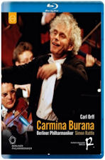 CARMINA BURANA/ SIMON RATTLE [오르프: 카르미나 부라나 & 베토벤: 레오노레서곡 3번 - 베를린 필 2004년 송년음악회]