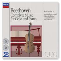 COMPLETE MUSIC FOR CELLO AND PIANO/ MSTISLAV ROSTROPOVICH, SVIATOSLAV RICHTER [DECCA DUO] [베토벤: 첼로 소나타 전집]