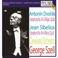 SYMPHNOY NO.8 & NO.4/ GEORGE SZELL [드보르작 & 시벨리우스: 교향곡 - 조지 셀]