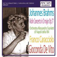 VIOLIN CONCERTO/ FRANCO CARACCIOLO, GIOCONDA DE VITO [브람스: 바이올린 협주곡 - 지오콘다 데 비토]
