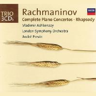 COMPLETE PIANO CONCERTOS & RHAPSODY/ VLADIMIR ASHKENAZY, ANDRE PREVIN [라흐마니노프: 피아노 협주곡 전곡 & 랩소디 - 아쉬케나지 & 프레빈]