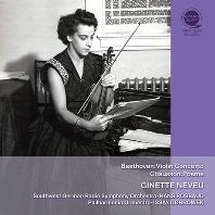 BEETHOVEN: VIOLIN CONCERTO & CHAUSSON: POEME/ HANS ROSBAUD, ISSAY DOBROWEN [베토벤: 바이올린 협주곡 & 쇼송: 포엠 - 지네트 느뵈 탄생 100주년 기념]