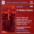 ST MATTHEW PASSION/ WILLEM MENGELBERG