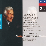 GREAT PIANO CONCERTOS 20, 2, 23, 24 & 25/ VLADIMIR ASHKENAZY [모차르트: 피아노 협주곡 - 아쉬케나지]