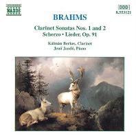 SONATAS FOR CLARINET AND PIANO/ KALMAN BERKES, JENO JANDO [브람스: 클라리넷 소나타 1, 2번 - 칼만 베르케시]