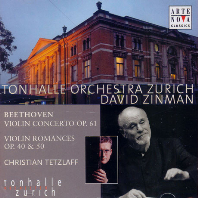 VIOLIN CONCERTO & ROMANCES/ CHRISTIAN TETZLAFF, DAVID ZINMAN [베토벤: 바이올린 협주곡, 로망스 - 테츨라프, 진먼]