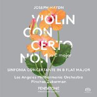 VIOLIN CONCERTO NO.1 & SINFONIA CONCERTANTE/ PINCHAS ZUKERMAN [SACD HYBRID] [하이든: 바이올린 협주곡 1번 & 신포니아 콘체르탄테]