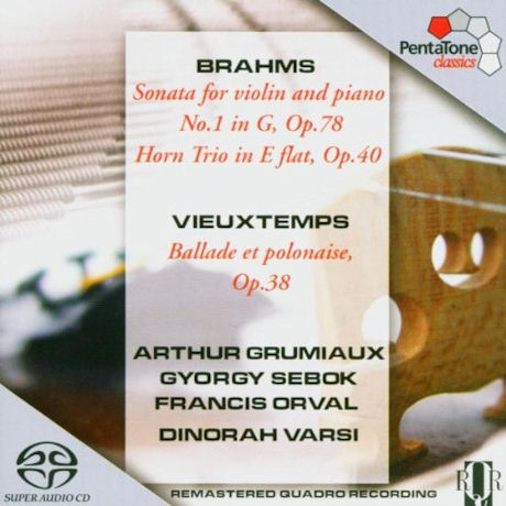 SONATA FOR VIOLIN AND PIANO NO.1/ ARTHUR GRUMIAUX, GYORGY SEBOK [SACD HYBRID] [브람스: 바이올린 소나타 1번 & 호른 트리오]