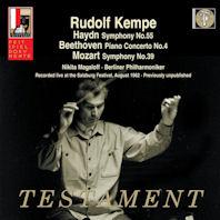 SYMPHONY NO.55 & PIANO CONCERTO NO.4, SYMPHONY NO.39/ RUDOLF KEMPE [루돌프 켐페: 하이든, 베토벤, 모차르트]