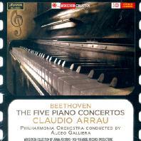 THE FIVE PIANO CONCERTOS/ CLAUDIO ARRAU, ALCEO GALLIERA