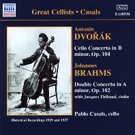 CELLO CONCERTO & DOUBLE CONCERTO/ PABLO CASALS, ALFRED CORTOT, GEORGE SZELL [드보르작: 첼로 협주곡 & 브람스: 이중 협주곡 - 파블로 카잘스]
