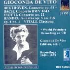 GIOCONDA DE VITO PLAYS BEETHOVEN VIOTT & BACH