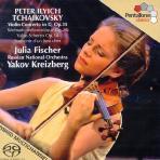 WORKS FOR VIOLIN & ORCHESTRA/ JULIA FISCHER, YAKOV KREIZBERG [SACD HYBRID] [차이코프스키: 바이올린 협주곡, 우울한 세레나데 - 율리아 피셔]
