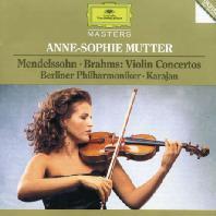 VIOLIN CONCERTOS/ ANNE-SOPHIE MUTTER, HERBERT VON KARAJAN [멘델스존 & 브람스: 바이올린 협주곡 - 무터 & 카라얀]