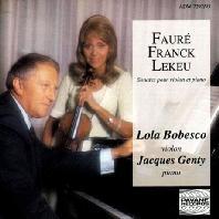 SONATES POUR VIOLON ET PIANO/ LOLA BOBESCO, JACQUES GENTY [포레, 프랑크, 르쾨: 바이올린 소나타 - 롤라 보베스코]