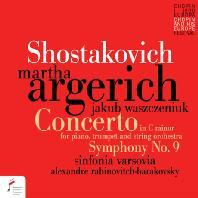 PIANO CONCERTO NO.1 & SYMPHONY NO.9/ MARTHA ARGERICH, ALEXANDRE RABINOVITCH-BARAKOVSKY [쇼스타코비치: 피아노 협주곡 1번, 교향곡 9번 - 아르헤리치 & 바라코프스키]