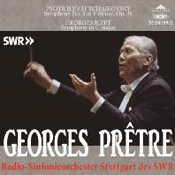 SYMPHONY NO.4 & SYMPHONY IN C MAJOR/ GEORGES PRETRE [차이코프스키: 교향곡 & 비제: 교향곡 C장조]