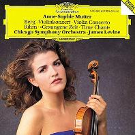 VIOLIN CONCERTO & GESUNGENE ZEIT/ ANNE-SOPHIE MUTTER, JAMES LEVINE [베르크 & 림: 바이올린 협주곡 - 무터, 레바인]