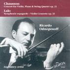 CONCERTO FOR VIOLIN, PIANO & STRING QUARTET OP.21/ RICARDO ODNOPOSOFF