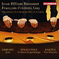 TRANSCRIPTIONS FOR TWO PIANISTS/ JEAN-EFFLAM BAVOUZET, FRANCOIS-FREDERIC GUY [두 명의 피아니스트를 위한 편곡집]