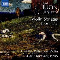 VIOLIN SONATAS NOS. 1-3/ CHARLES WETHERBEE, DAVID KOREVAAR [유온: 바이올린 소나타 - 찰스 웨더비]