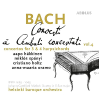 CONCERTI A CEMBALO 4/ AAPO HAKKINEN, JOHANN GOTTFRIED MUTHEL, MIKLOS SPANYI [SACD HYBRID] [바흐: 3, 4대의 하프시코드를 위한 협주곡]