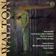 VIOLIN CONCERTO, VARIATIONS ON A THEME BY HINDEMITH, PARTITA/ ANTHONY MARWOOD, MARTYN BRABBINS [월튼 - 바이올린 협주곡, 파르티타, 힌데미트 주제에 의한 변주곡]