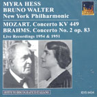 MYRA HESS & BRUNO WALTER PLAY MOZART & BRAHMS
