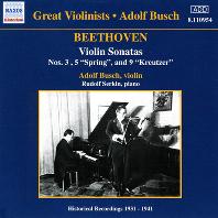 VIOLIN SONATAS/ ADOLF BUSCH, RUDOLF SERKIN [베토벤: 바이올린 소나타 3번<봄> & 9번<크로이처> - 루돌프 제르킨, 아돌프 부쉬]