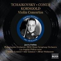 VIOLIN CONCERTOS 1950-1953 RECORDINGS [차이코프스키, 코너스, 사라사테, 코른골트: 바이올린 협주곡 - 야샤 하이페츠]