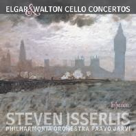 CELLO CONCERTOS/ STEVEN ISSERLIS, PAAVO JARVI [엘가 & 월튼: 첼로 협주곡 - 이설리스, 예르비]