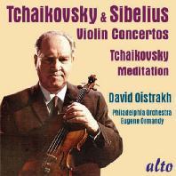 VIOLIN CONCERTOS & MEDITATION/ DAVID OISTRAKH, EUGENE ORMANDY [차이코프스키 & 시벨리우스: 바이올린 협주곡 - 오이스트라흐 & 오먼디]