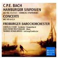 HAMBURGER SINFONIEN/ THOMAS HENGELBROCK [C.P.E. 바흐: 함부르크 심포니 & 협주곡 - 안드라스 슈타이어, 토마스 헹엘브록]