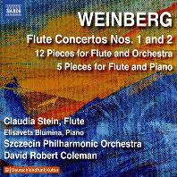 FLUTE CONCERTOS NOS.1 & 2/ CLAUDIA STEIN, DAVID ROBERT COLEMAN [바인베르크: 플루트 협주곡 1, 2번 외 - 클라우디아 스테인]