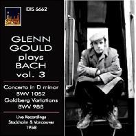 GLENN GOULD PLAYS BACH VOL.3/ GEORG LUDWIG JOCHUM