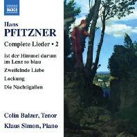 COMPLETE LIEDER 2/ COLIN BALZER, KLAUS SIMON [피츠너: 가곡 작품 2집 - 콜린 발저]
