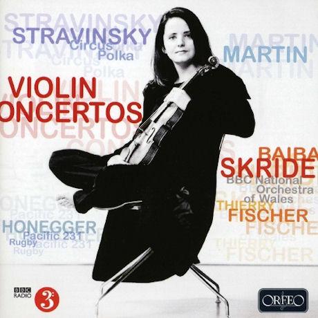 VIOLIN CONCERTOS/ BAIBA SKRIDE, THIERRY FISCHER [스트라빈스키 & 마르탱: 바이올린 협주곡 외]