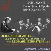 LIVE AT THE LIBRARY OF CONGRESS VOL.5/ JUILLIARD STRING QUARTET, LEONARD BERNSTEIN [슈만: 피아노 5중주 & 현악 4중주 - 줄리어드 현악사중주단, 번스타인]