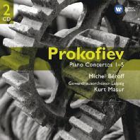 PIANO CONCERTOS 1-5/ MICHEL BEROFF, KURT MASUR [GEMINI] [프로코피에프: 피아노 협주곡 전집]